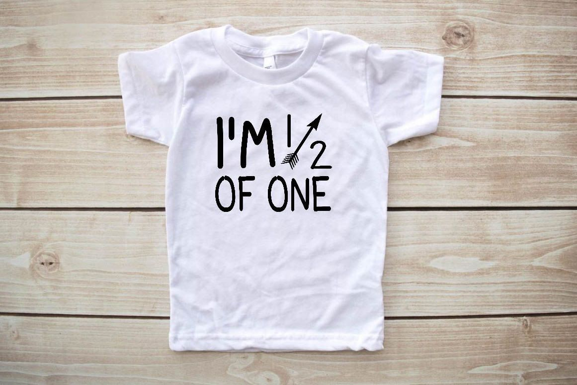 6 Month Shirt Half Birthday Tee Baby Boy Clothes 1 2 Girl By Our5loves On Etsy
