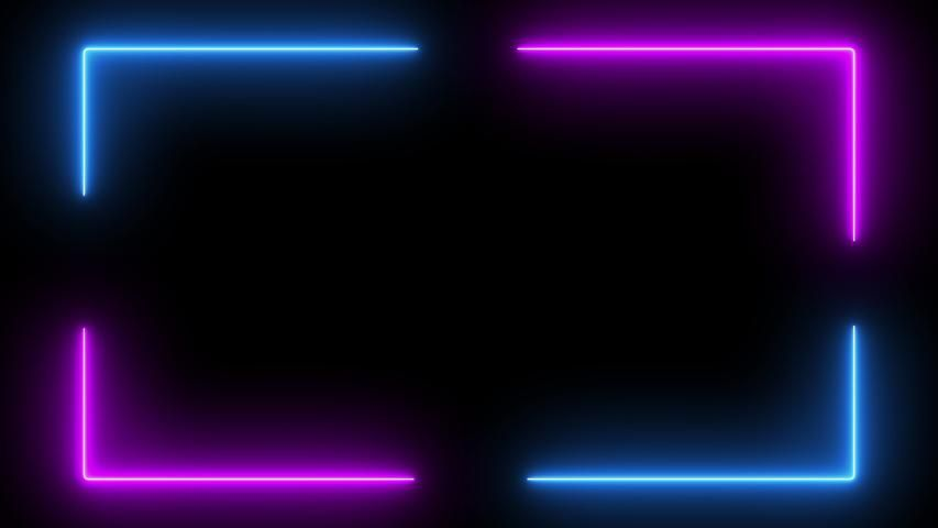 Neon Glow Color Moving Seamless Stock Footage Vide