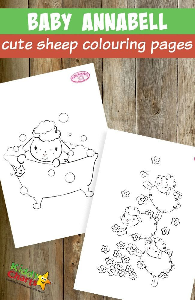 Baby Annabell Cute Sheep Colouring Pages Das Dümmste Schaf Heißt