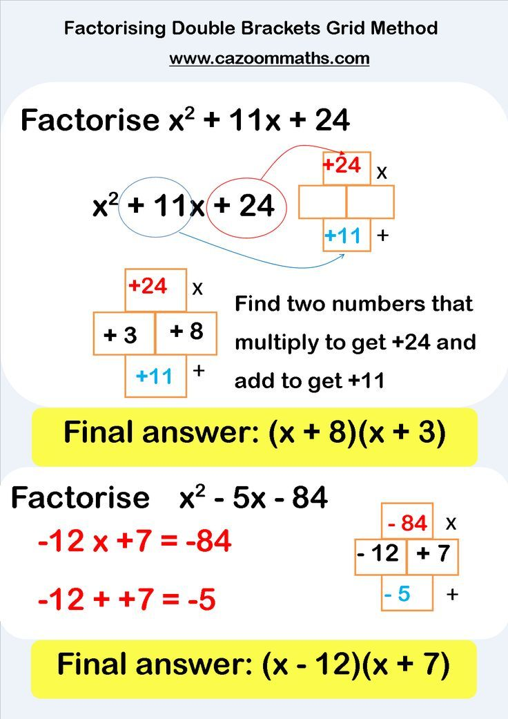 Factorising Worksheets With Answers  Algebra Worksheets And
