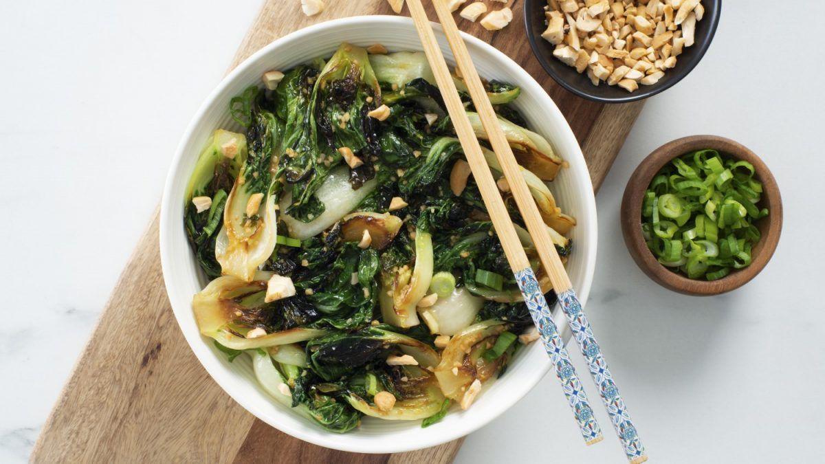 Garlic Hoisin Bok Choy StirFry Recipe Asian recipes