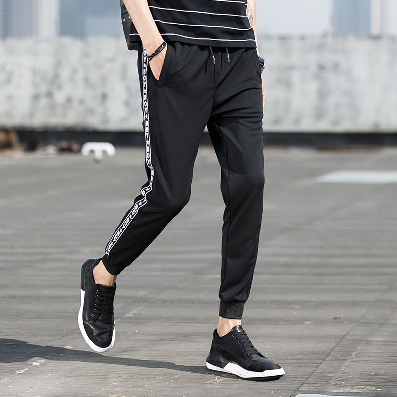 >> Click to Buy << Mens New Arrival Teens Slim Fit Elastic Waist Black Casual Trousers #2101519 #Affiliate