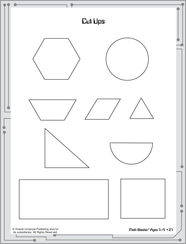 Cut Ups - Printable Geometry Activities for Kids - Math Blaster ...