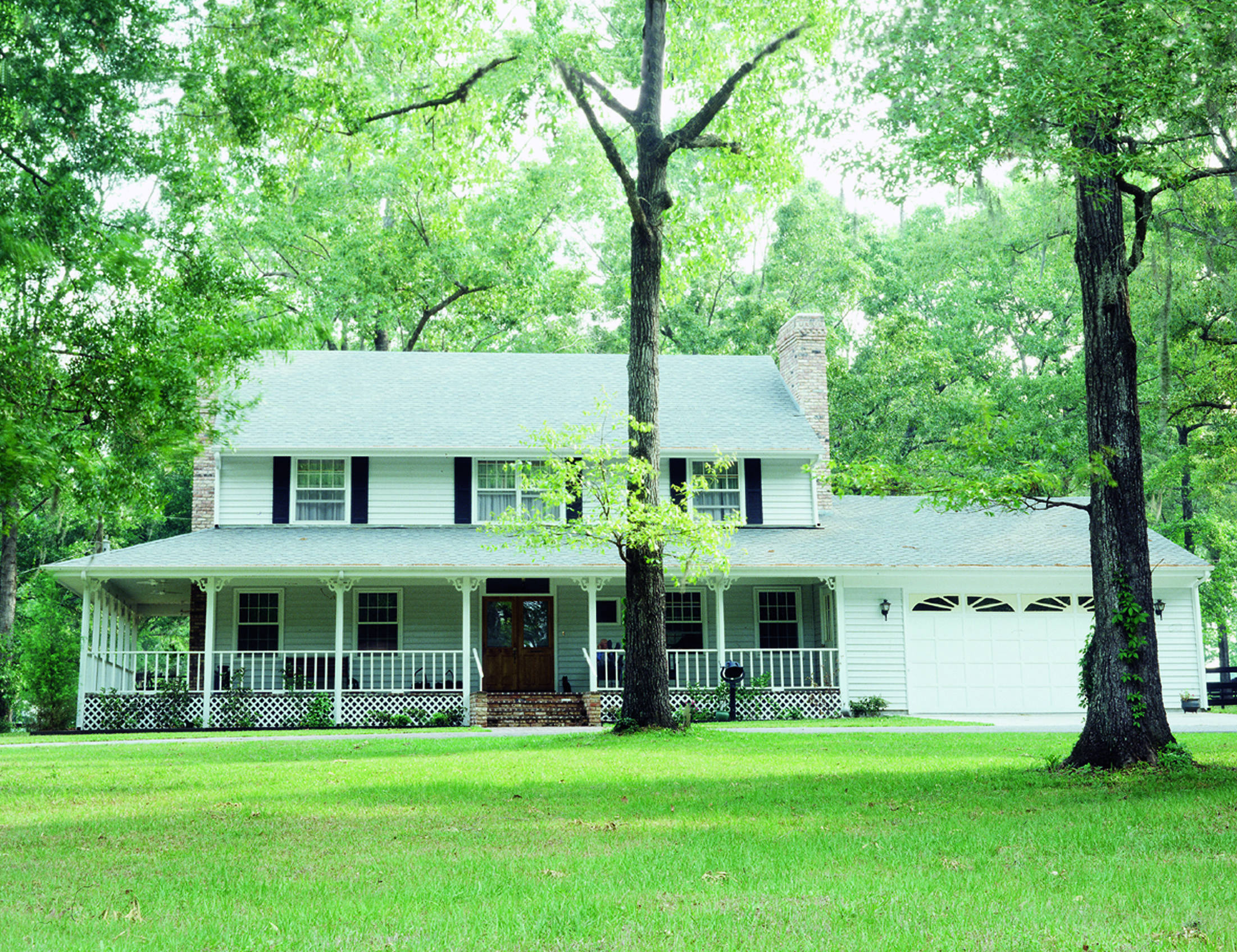 Plan 7300HS: All-American Country Home | Colonial, Porch and Simple ...
