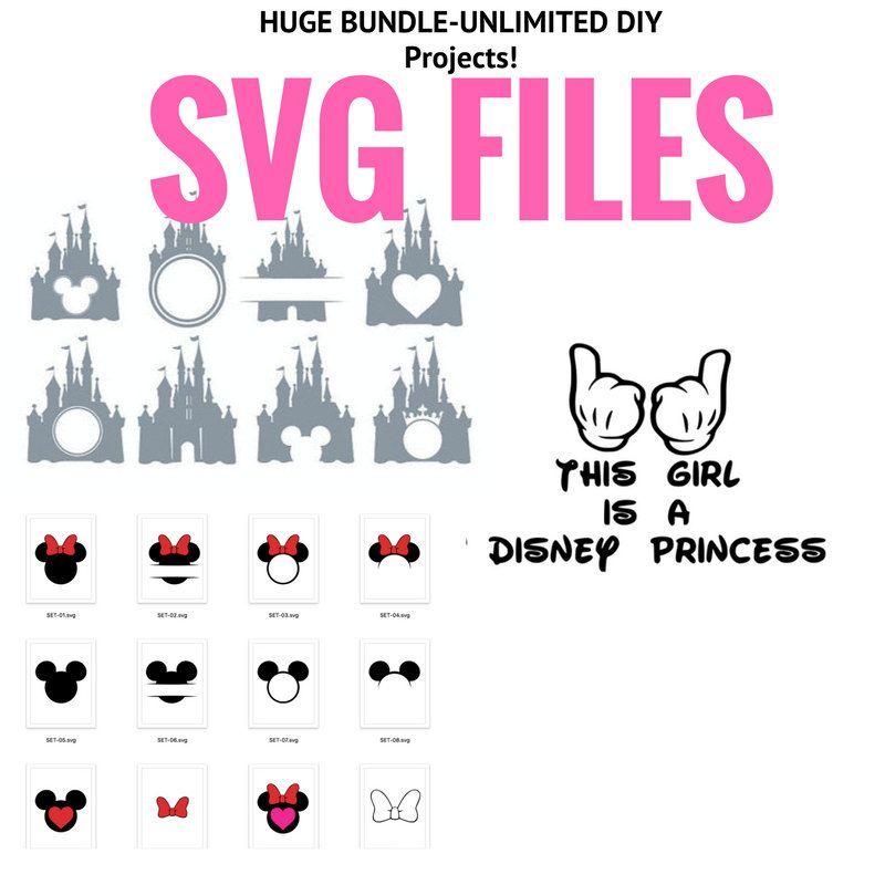 HUGE SVG BUNDLE! unlimited Cricut Machine print & cut Disney