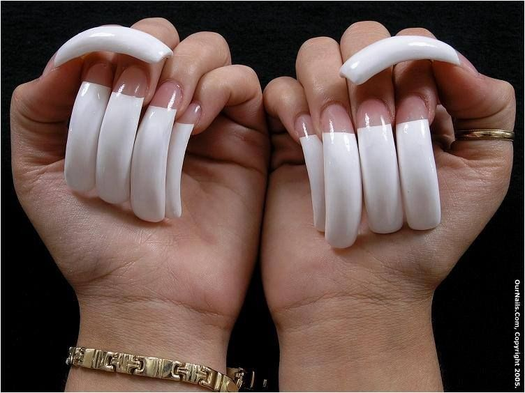 Long french manicure | 3. Double Team + Dynamicpunch Amazing ...