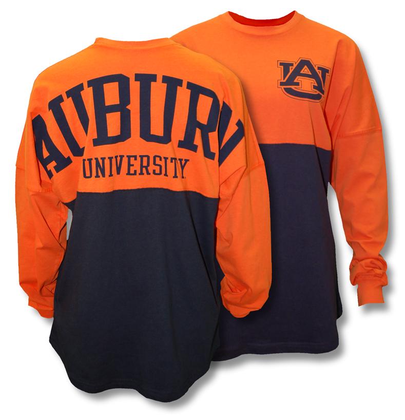 Ladies Orange And Navy Color Black Spirit Jersey With Au On
