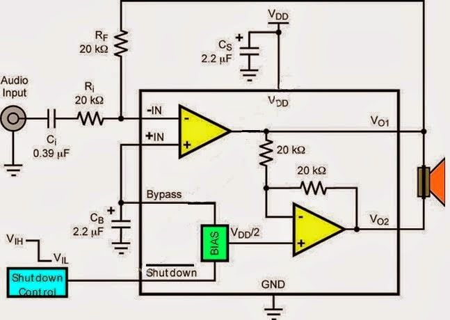 high voltage 3 watt audio power amplifier circuit diagram rh pinterest com