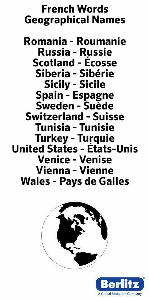 Country Names In French Part - 20: Géographie   French For Beginners   Pinterest   Language, French Lessons  And Learning French