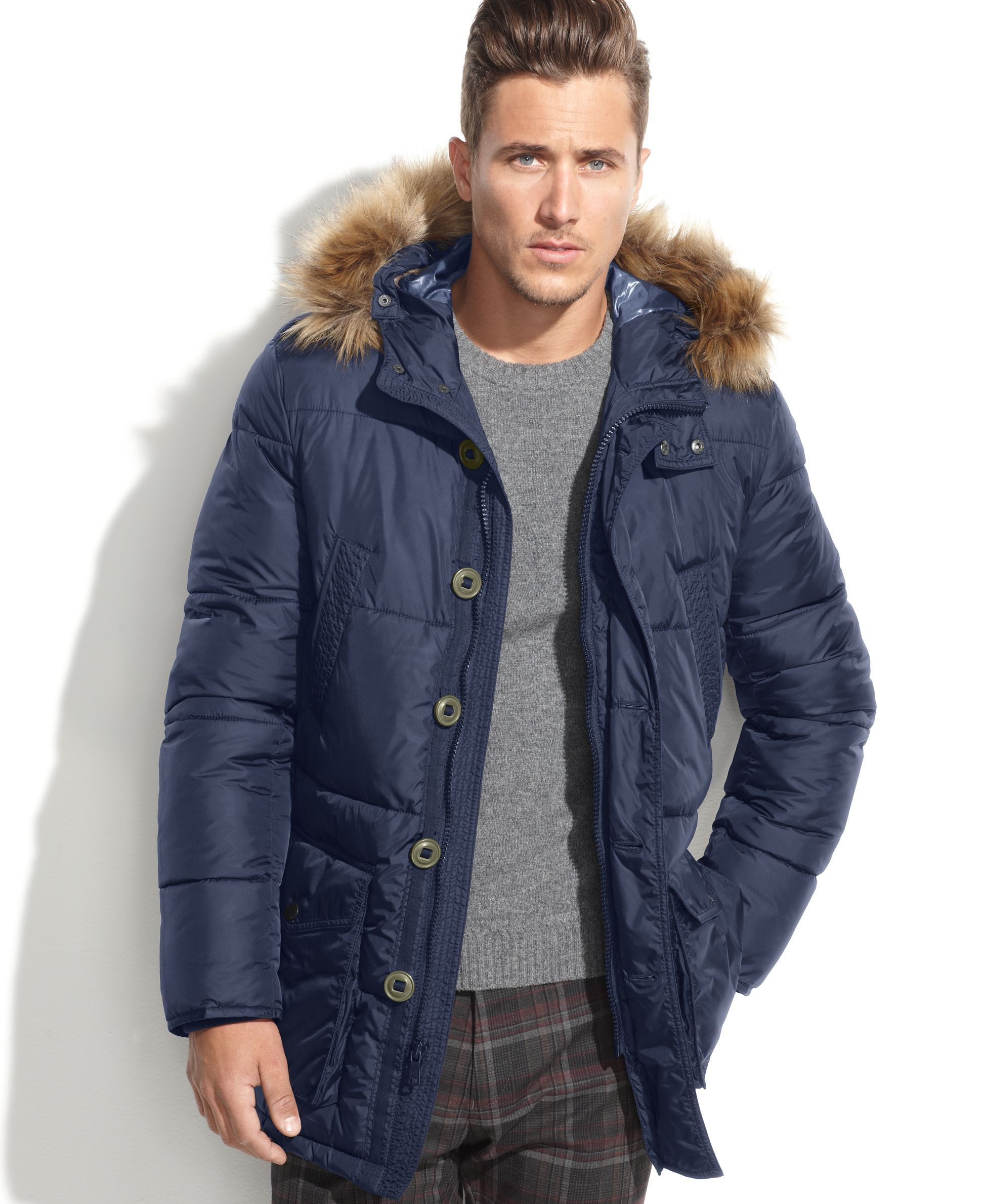 92420aed9 Tommy Hilfiger Hooded Faux-Fur-Trim Performance Parka | Products ...