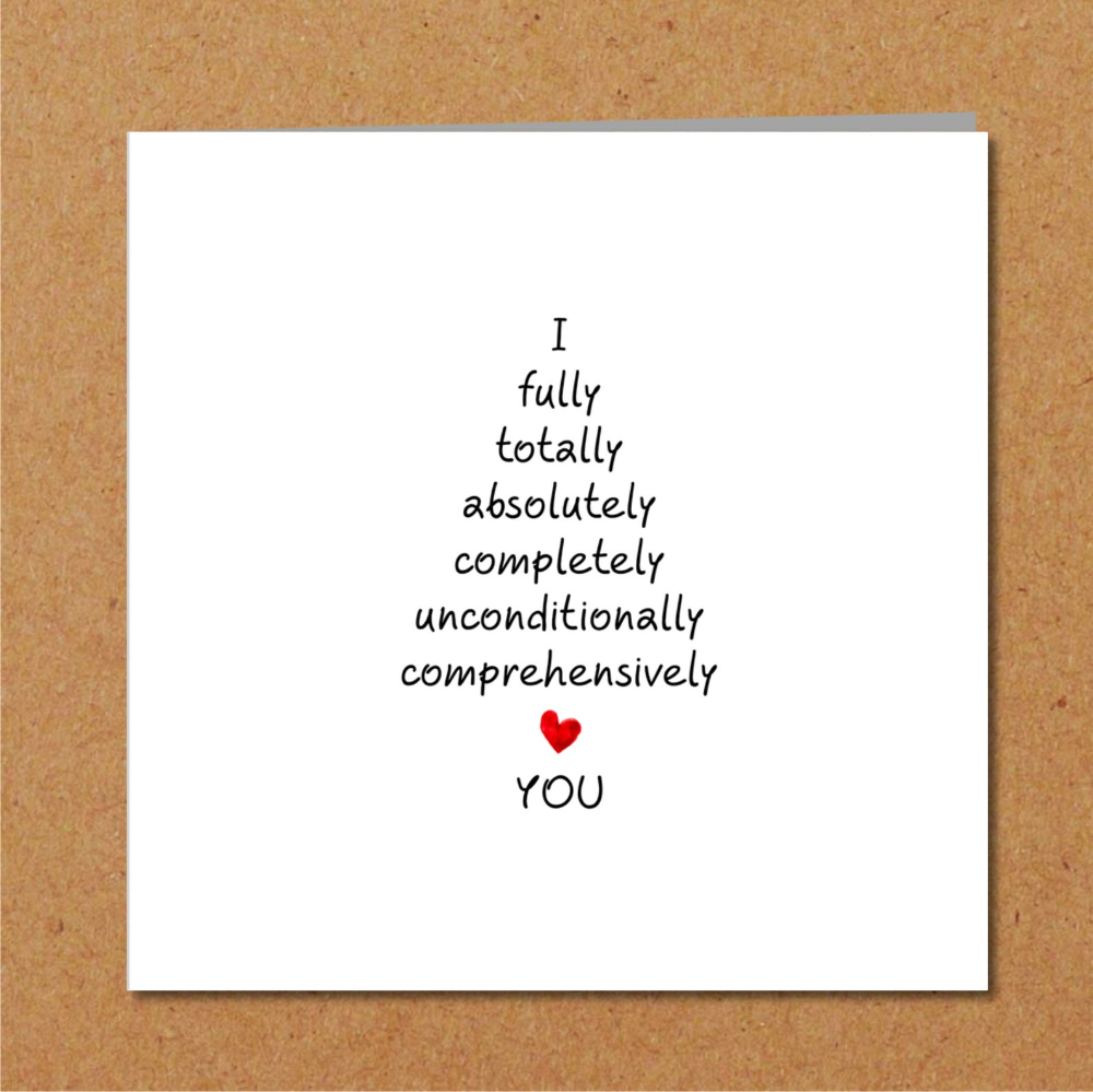 Romantic Anniversary Card - Valentines Day Card -