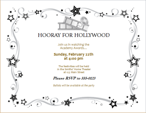 Party Invitations Templates Free Downloads Movie Award Party Invitation Download At Httpwww.doxhubparty .