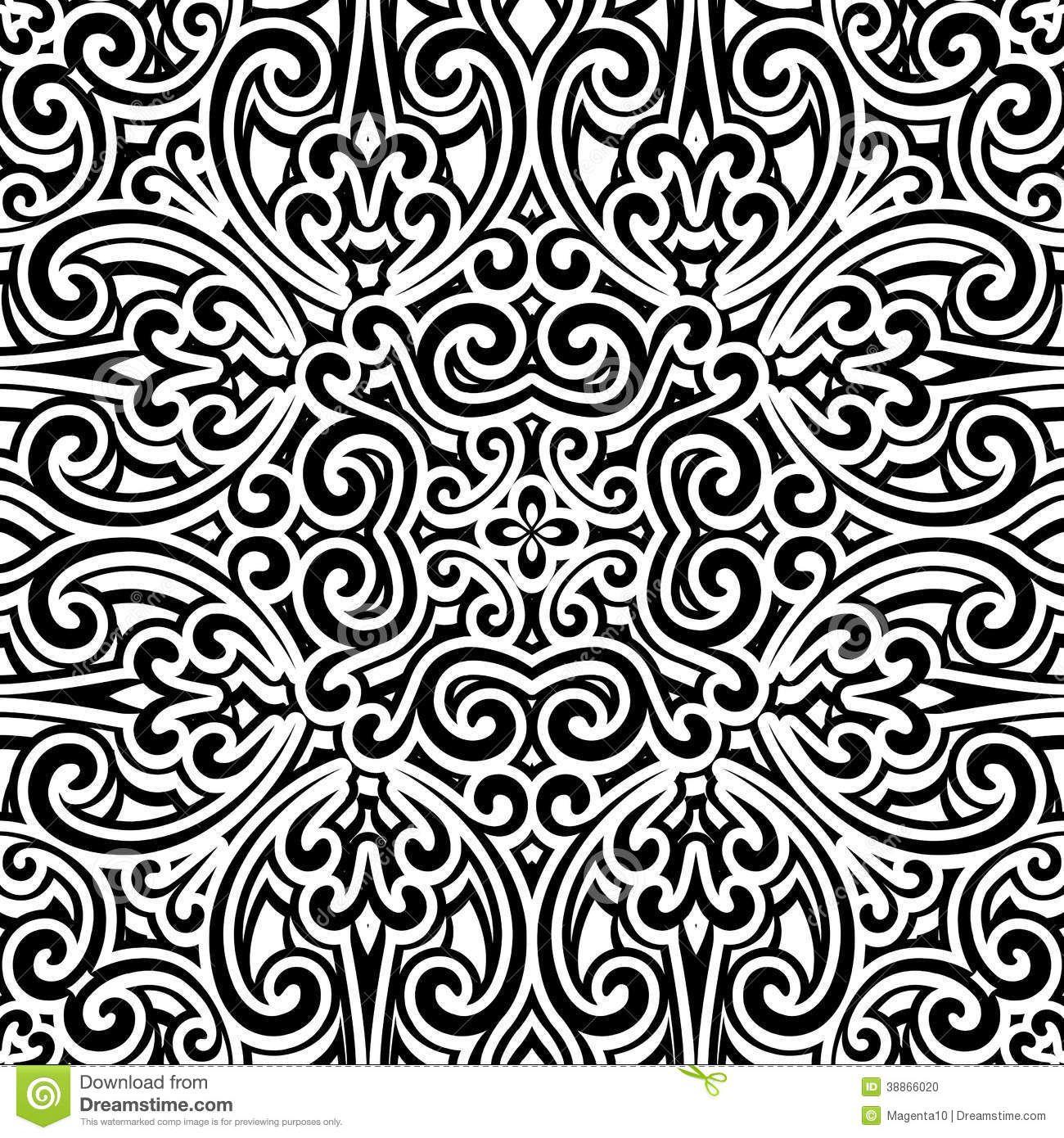 Illustration About Black And White Background Vintage Ornament Seamless Pattern Illustr White Pattern Background Vintage Ornaments Gold And Black Background