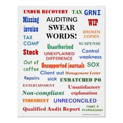 Auditing swear words ! poster Word poster, Hilarious and Humor - audit report template word