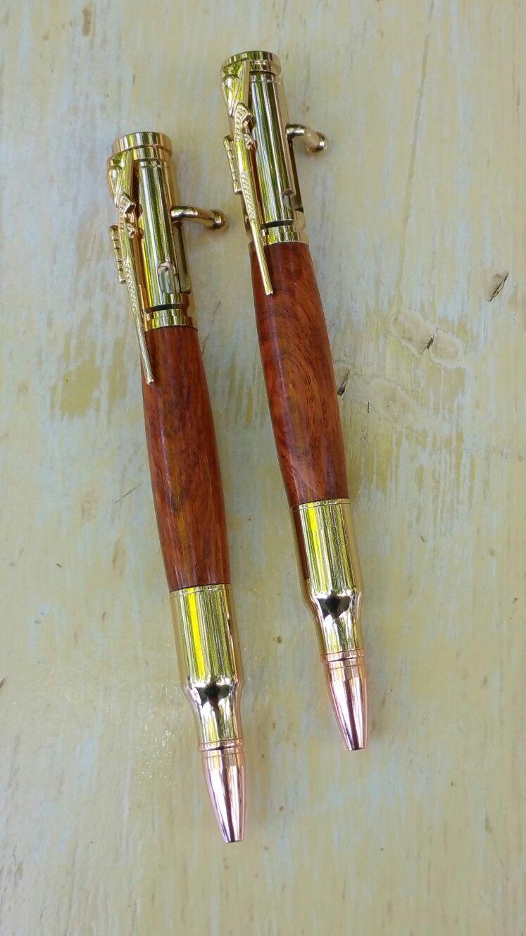 Bolt Action Pen And Pencil Set In Figured Aussie Burl Bolt Action Pen Pen Price Pen