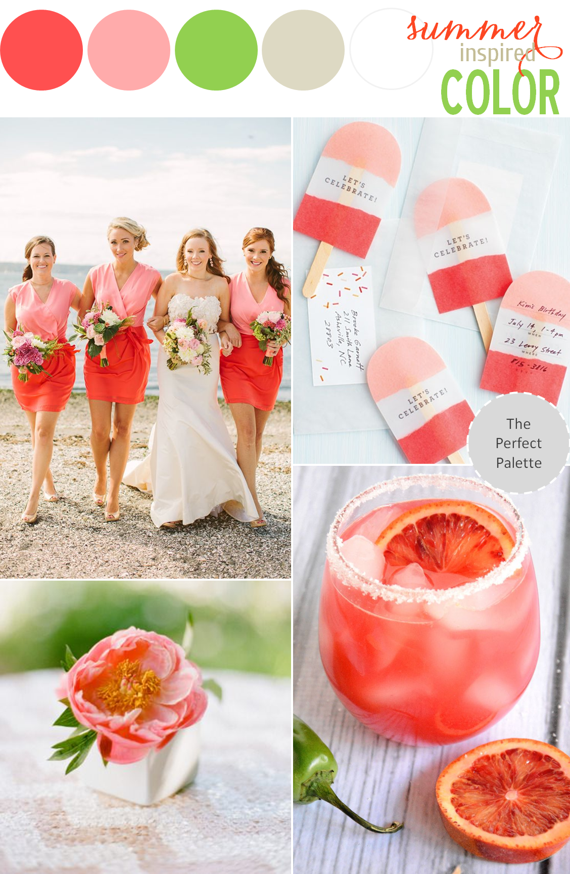 summer inspired color: coral two tone | coral and summer