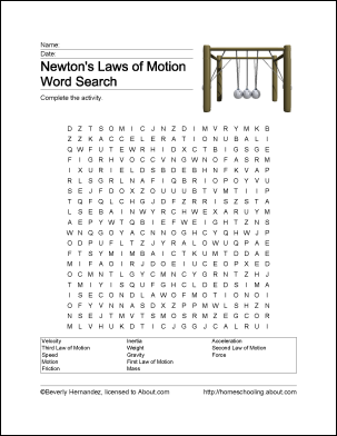 image regarding Printable Physics Worksheets identified as Entertaining Methods towards Discover In excess of Newtons Guidelines of Action CC (Cycle