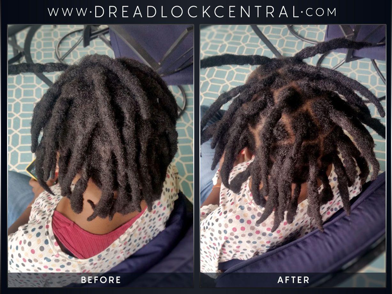 Nolwazi S 1 Year Old Dreadlock Maintenance Short Locs Hairstyles Locs Hairstyles Natural Hair Styles