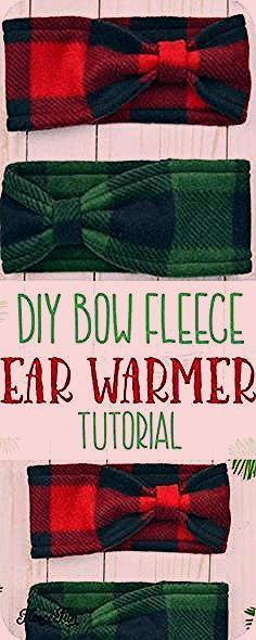 Make this cute Fleece Ear Warmer Headband DIY with bow styling Great step by step instructions with pictures Makes a great handmade gift Knitting is among the activities...