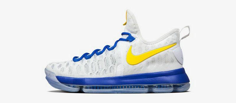 2ceb6fbfab8 Nikeid Kevin Durant KD 9 Dub Nation Warriors Home Authentic