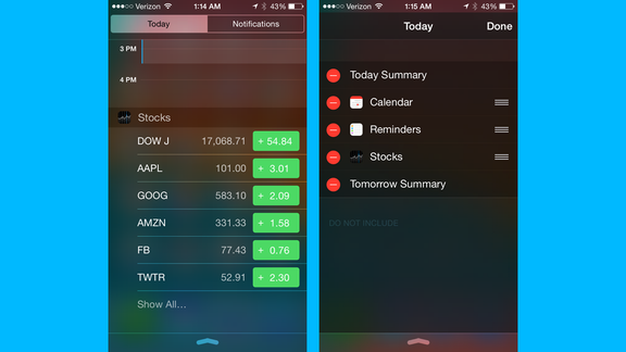 20 top iOS 8 tips and tricks Stock ticker, Android