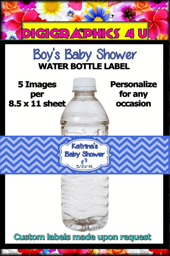 Personalized Blue Boy Baby Shower Inspired Any by DigiGraphics4u, $5.00
