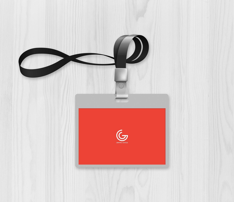 Free Office ID Card Mockup Free Office