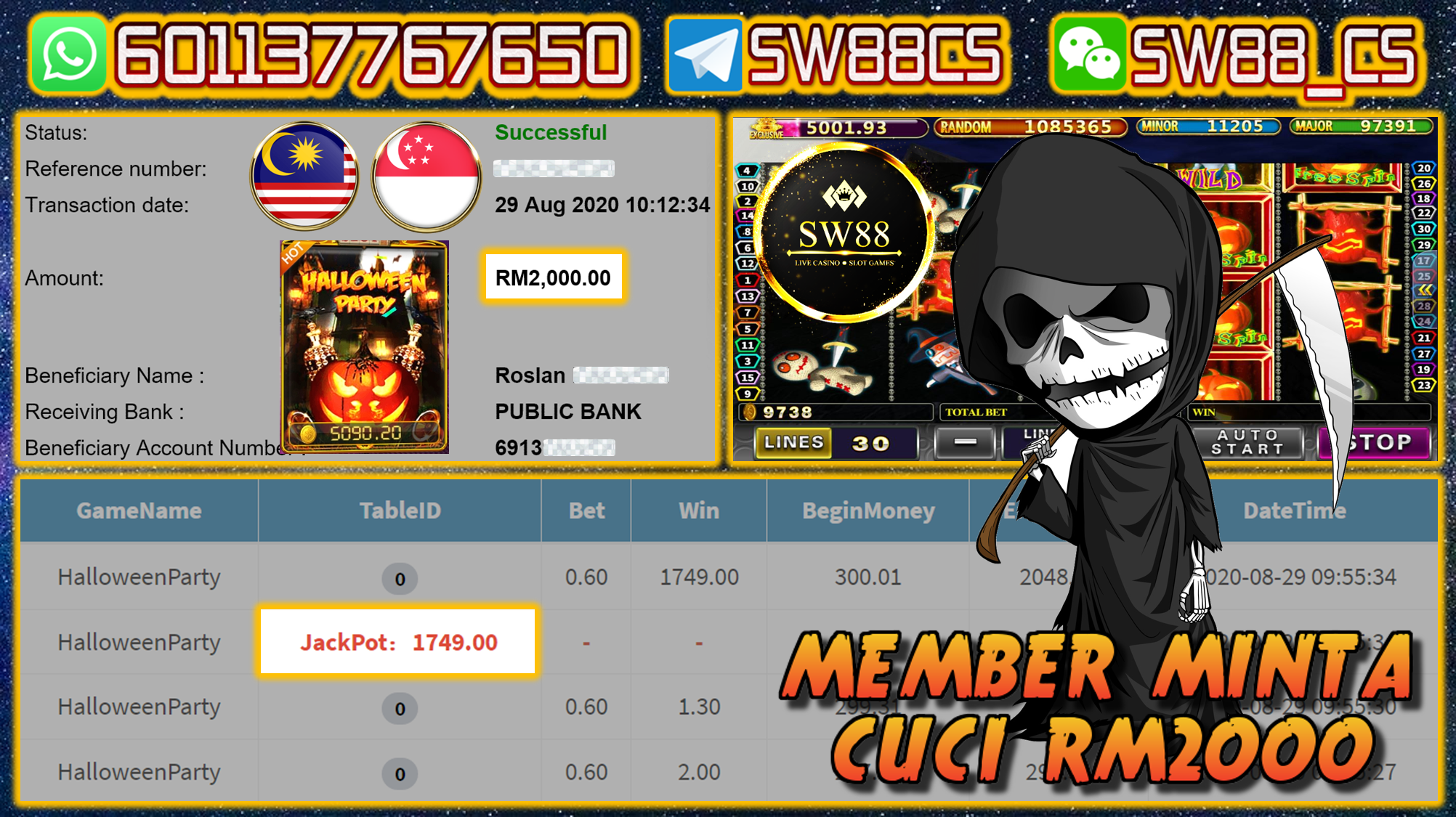 Pussy888 Halloween Party Withdraw Rm2000 Blackjack Slots Games Online Casino