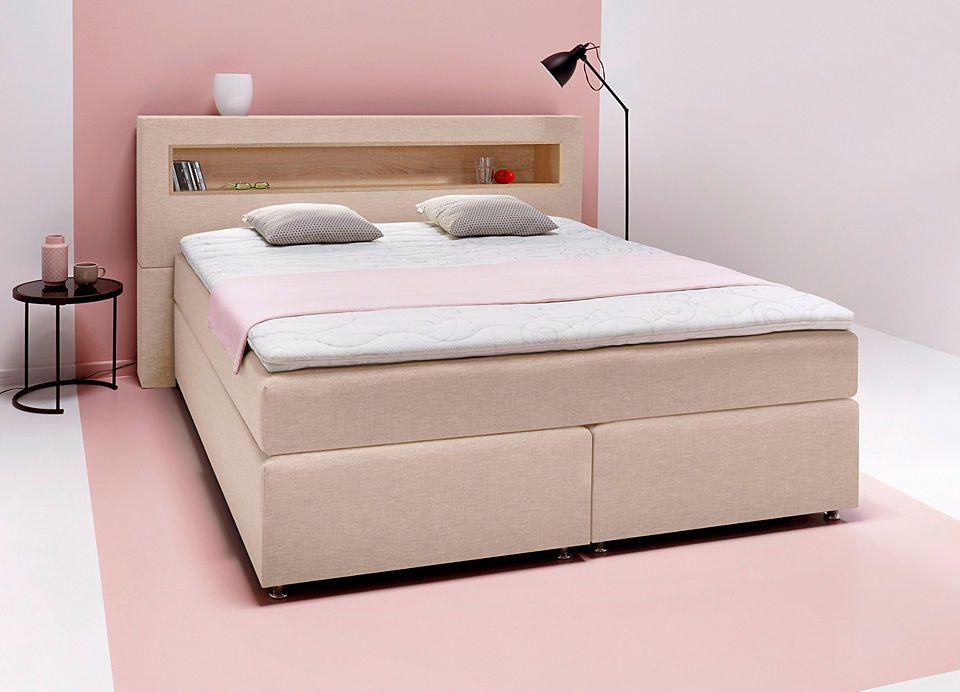 Breckle Boxspringbett inkl Kopfteilregal Schlafzimmer \u003e Betten - schlafzimmer betten günstig
