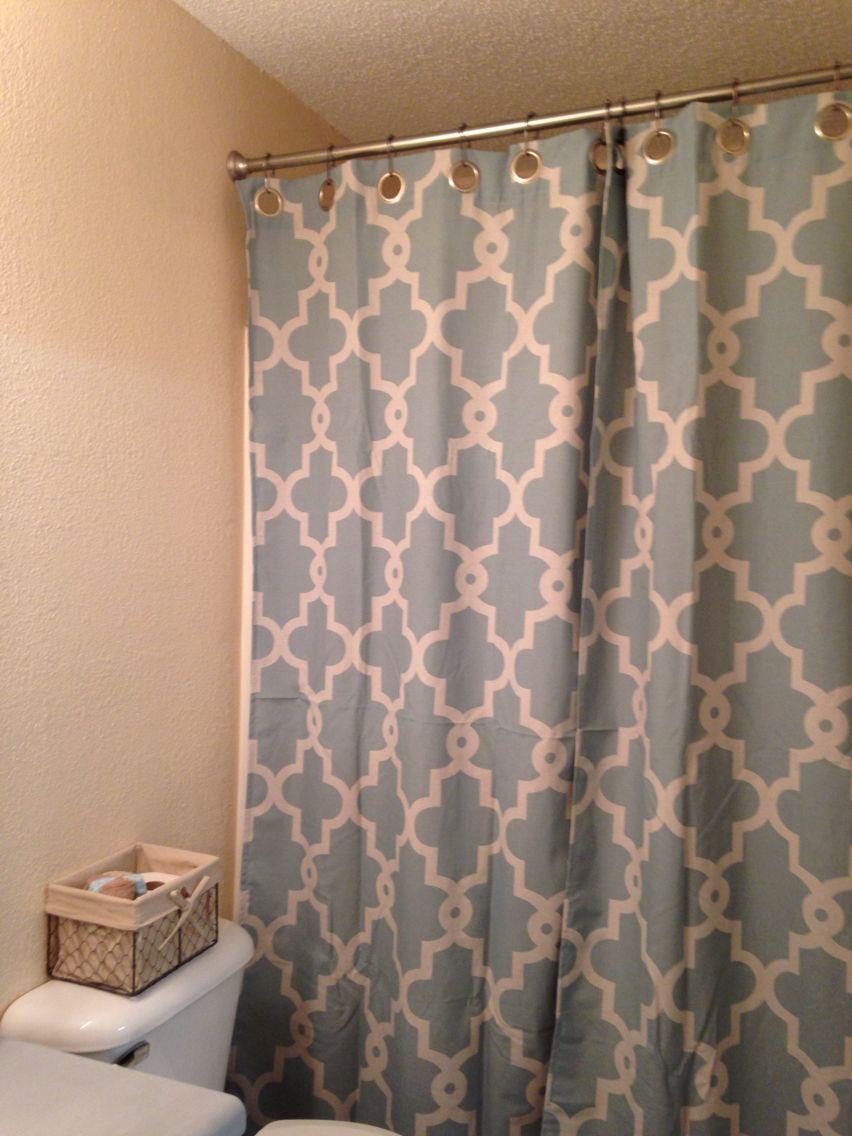 Shower with window ideas  using a regular curtain as a shower curtainfunctional and chic