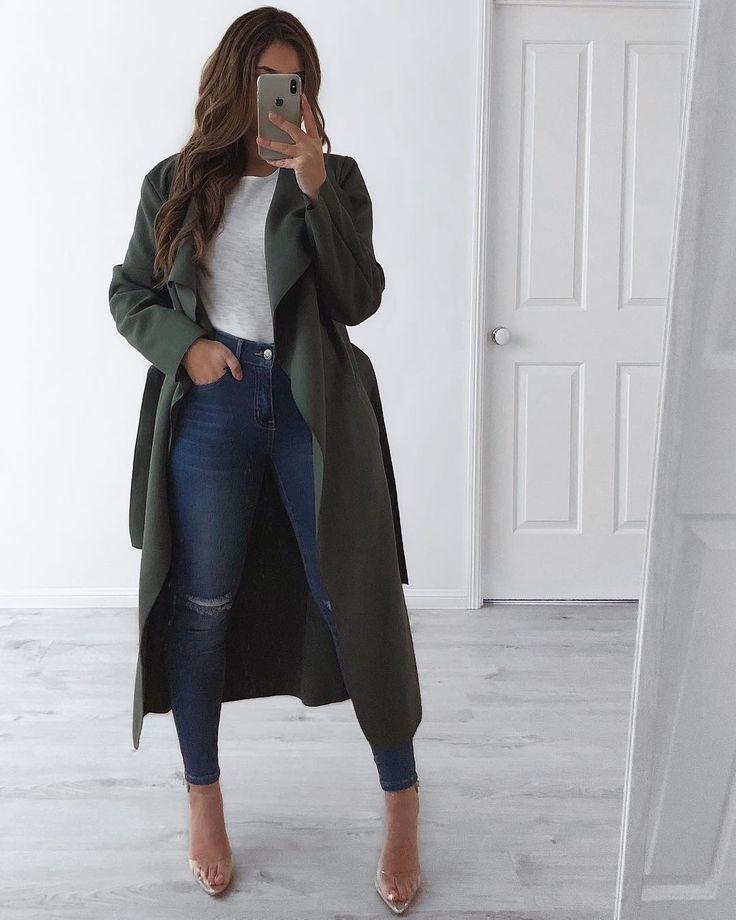 Eu sou obcecado por casacos ? e este cáqui da Fashion Drug é inexistente, além de jeans da ... » Moda de Invierno