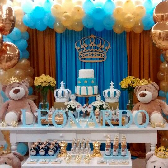 Little Prince Baby Shower In 2019 Baby Boy Shower Baby