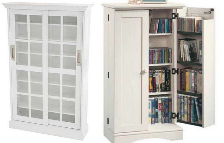 White dvd storage cabinet | ChoozOne - Dvd Storage Furniture Cabinets Roselawnlutheran