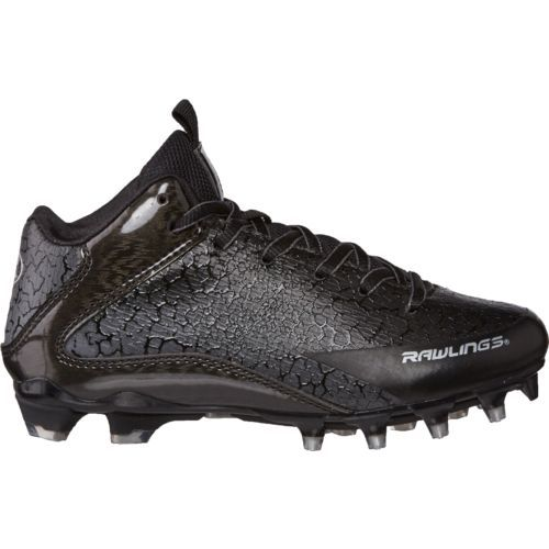 save off 32a7d 1ab07 Rawlings Boys  Intensity Mid Football Cleats (Black, Size 2) - Youth Football  Shoes at Academy Sports