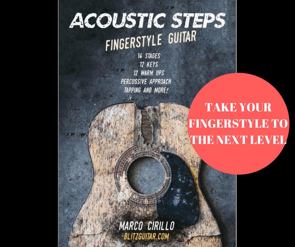 Acoustic Steps Acoustic Guitar Fingerstyle Book For Intermediate Guitar Fingerstyle Guitar Les Fingerstyle Guitar Guitar Lessons Fingerstyle Guitar Lessons