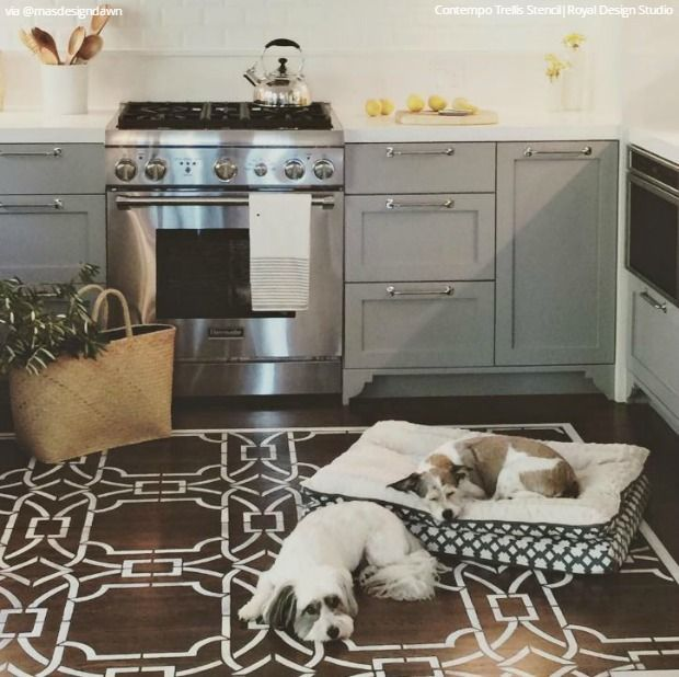 Ideas For Painting Wood Floors: Easy Stencil Ideas That Are Insta-Inspiring!