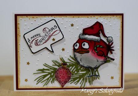 noch ein paar weihnachtskarten crazy birds tim holtz. Black Bedroom Furniture Sets. Home Design Ideas