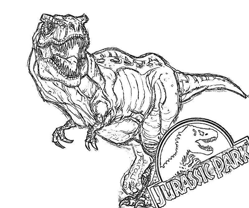Coloring Page Dinosaur Jurrasic Park Logo Dinosaur Coloring Pages Dinosaur Coloring Coloring Pages