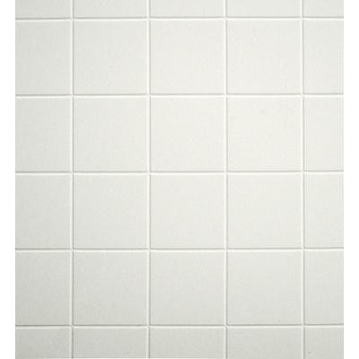 inexpensive white 4x4 tile pattern