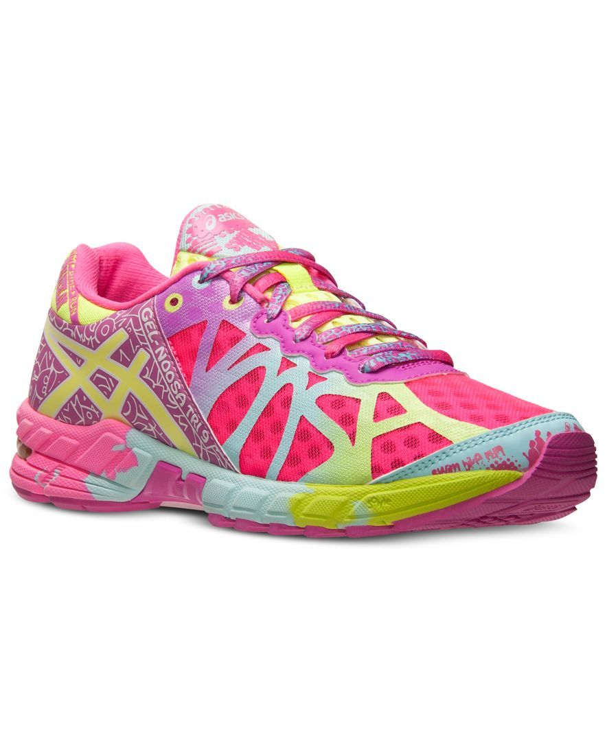 Asics Women's Gel Noosa Tri 9 Ad Shoe Neon Pink Lime Green - Finish Line Athletic  Sneakers - Shoes - Macy's