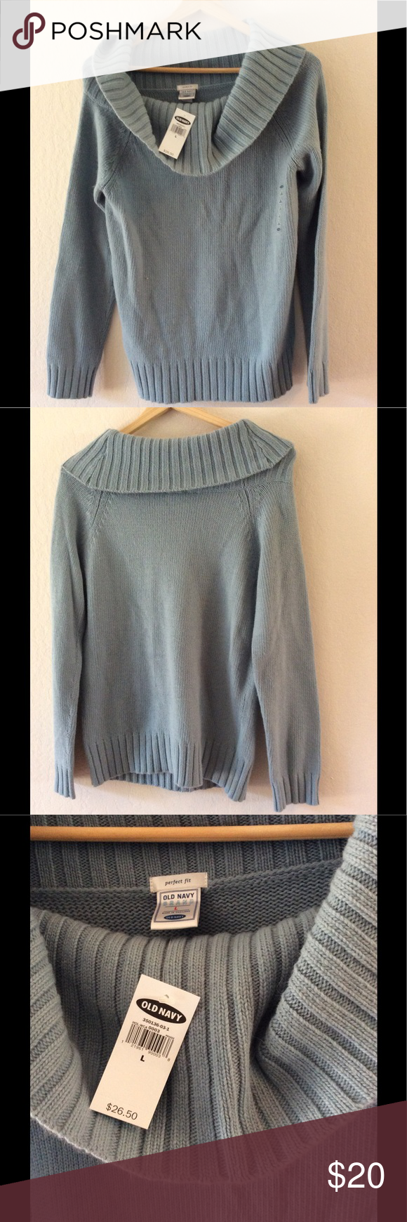 NWT Old Navy pale blue cowl neck sweater. NWT | Cowl neck, Navy ...