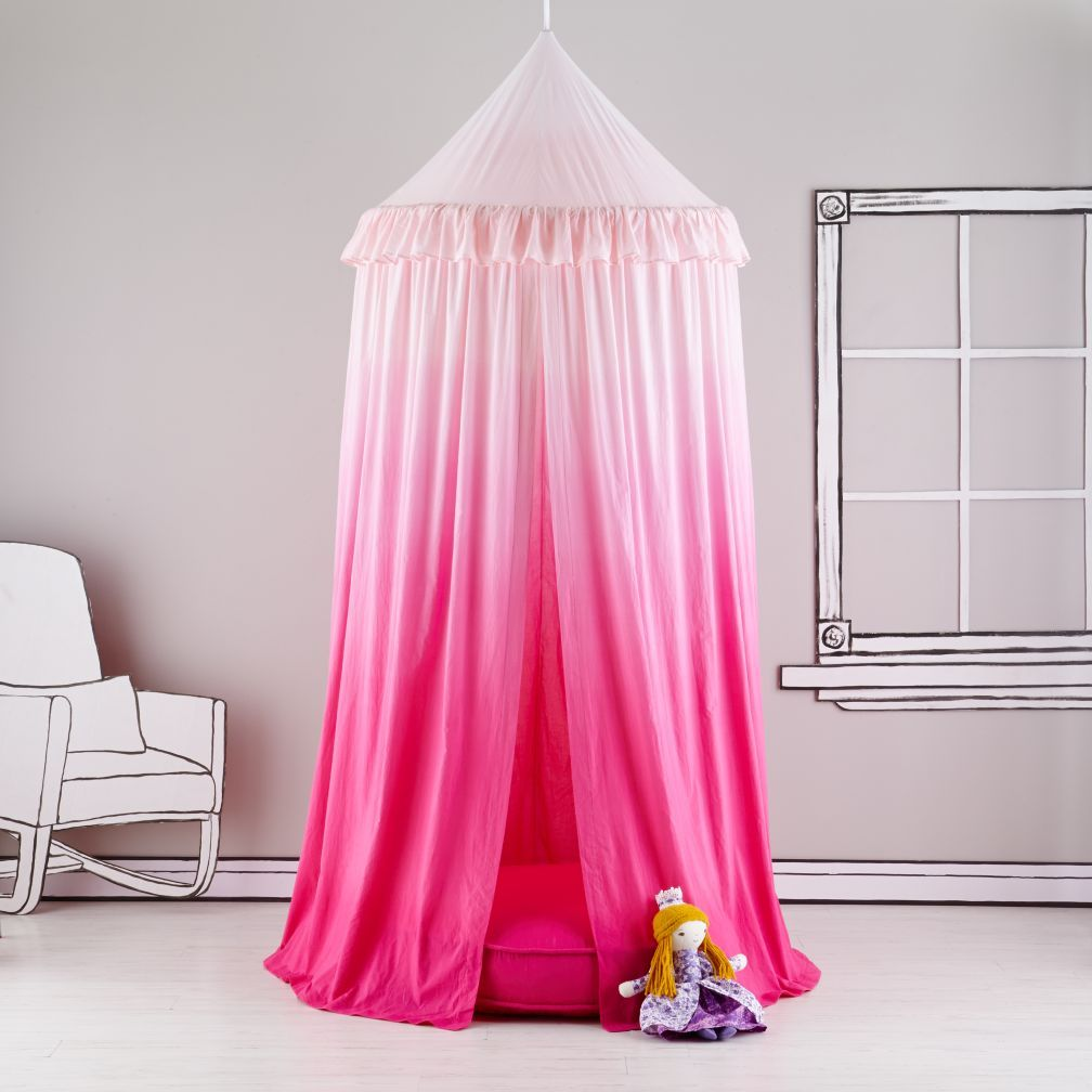 Pink Ombre Hanging Play Home Canopy & Pink Ombre Hanging Play Home Canopy | Canopy Playhouses and Playrooms