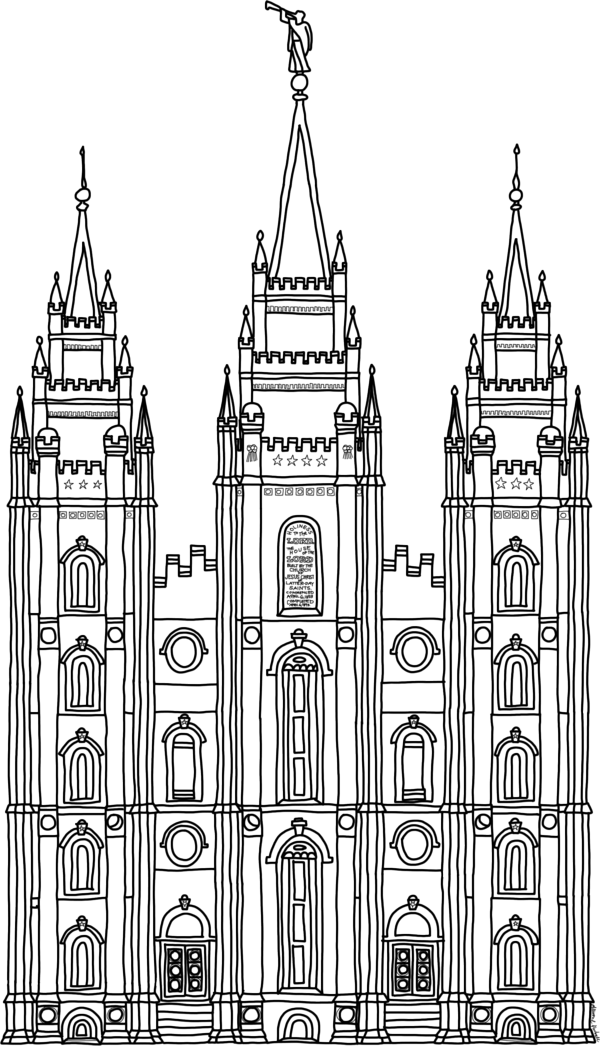 Salt Lake City Temple Coloring Page - Printable Coloring Pages For ...