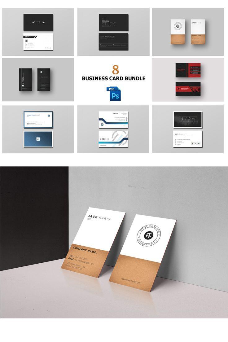 Business card template 8 business card design bundle
