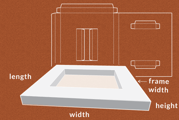passe partout shadow box picture frame generate a template at this
