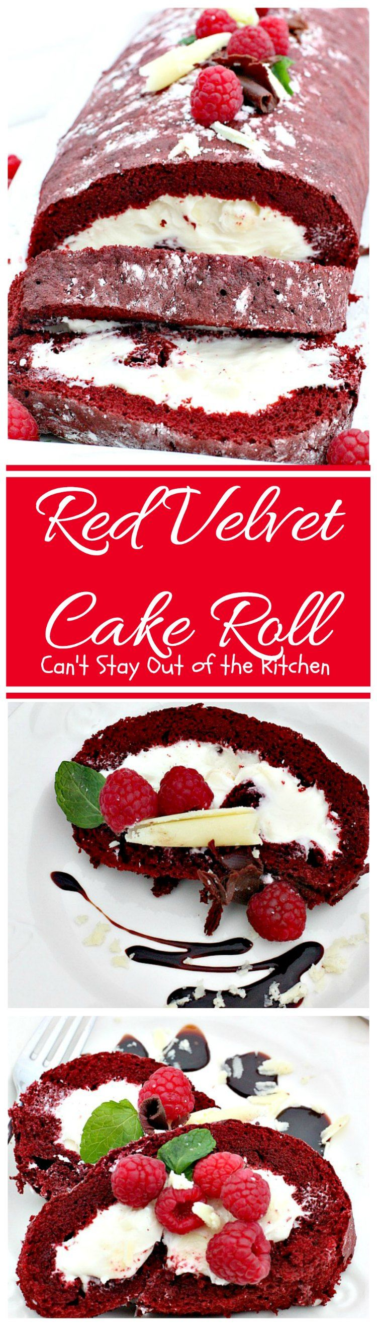 Red Velvet Cake Roll #redvelvetcheesecake