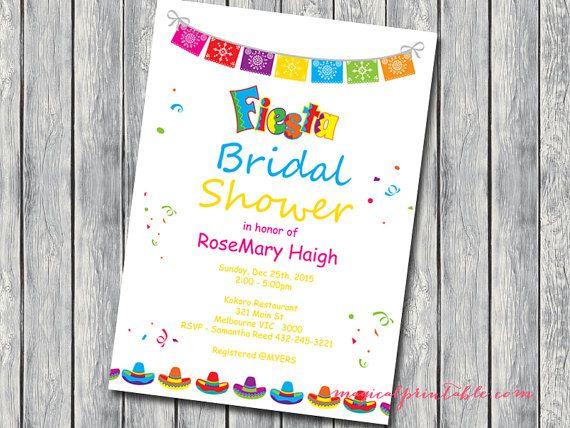 Custom Invite Fiesta bridal Shower Invite Fiesta by BrideandBows