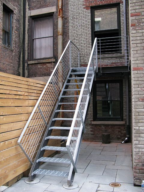 Custom Galvanized Exterior Stair By Face Design + Fabrication