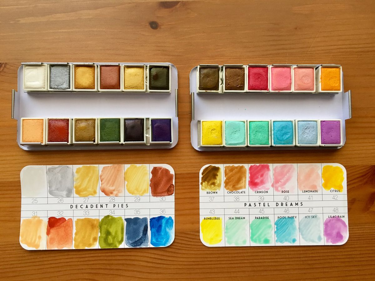 5632fa81fafa Prima Marketing watercolor confections pastel dreams and decadent pies  watercolor pans