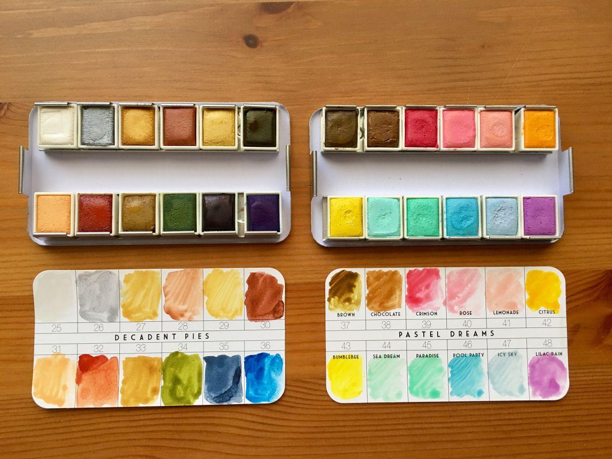Doodlewash Review Prima Watercolor Confections Sets Doodlewash Prima Watercolor Watercolor Pans Lulus Art